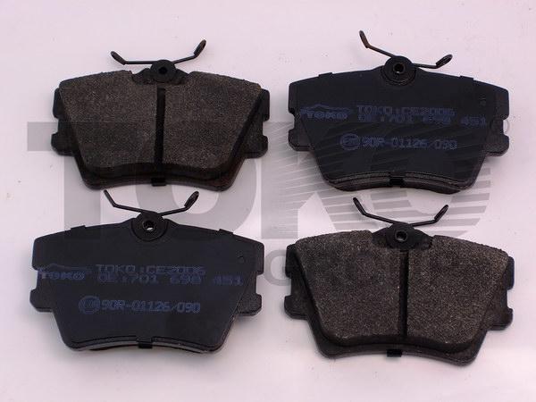 Колодки гальмівні дискові з пластинами, зад. VOLKSWAGEN T4, CARAVELLE 1.8, 1.9D/TD/TDI, 2.0, 2.4D, 2.5TD/TDI, 2.8TDI 90-98