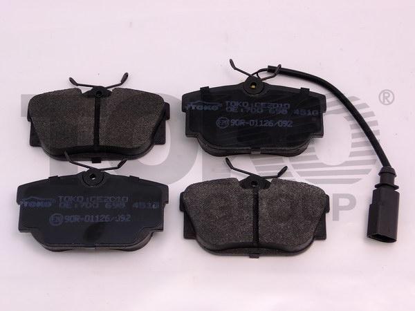 Колодки гальмівні дискові з пластинами, зад. VOLKSWAGEN T4, CARAVELLE 1.8, 1.9D/TD/TDI, 2.0, 2.4D, 2.5TD/TDI 99.05-